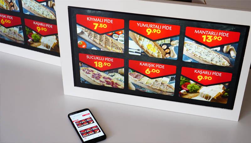 dijital menu ekran