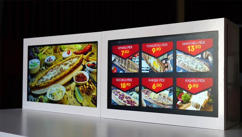 dijital menu ekranlar